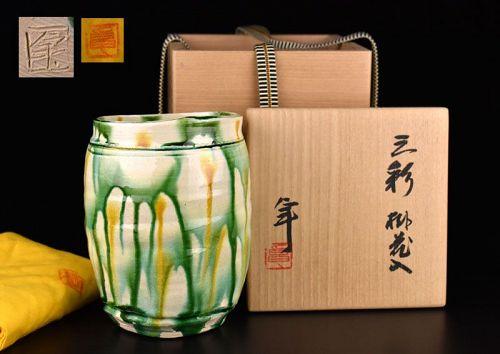 Sansai Vase by Living National Treasure Kato Takuo