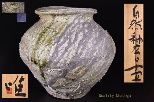 Large Shizen-Yu Tsubo Jar by Tsujimura Yui
