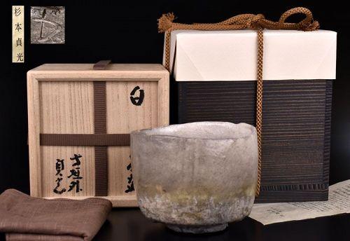 White Chawan Tea Bowl  by Sugimoto Sadamitsu