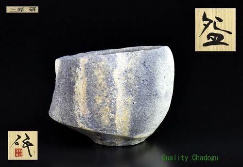 Yakishime Chawan Tea Bowl by Mihara Ken