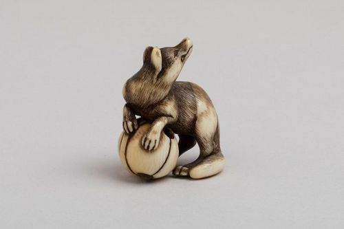 Netsuke � A very fine netsuke of a fox. Japan Edo 18th