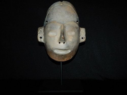 Pre-Columbian Life-Size Colima Death Mask, Shaft Tomb, Archaic