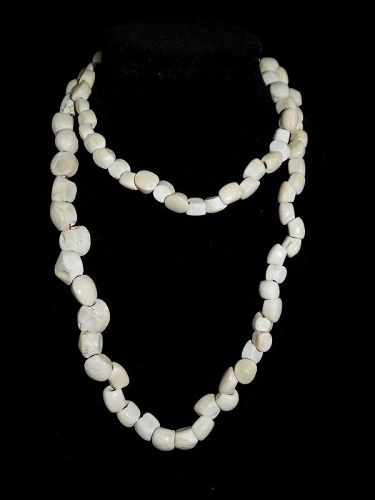 Pre-Columbian Corn Kernel Shell Bead Necklace, Authentic 100%