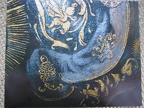 Rubens GILDED Honeysuckle Design Symbol on Armor of Old Master