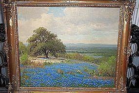 Texas Bluebonnet Painting by Porfirio Salinas