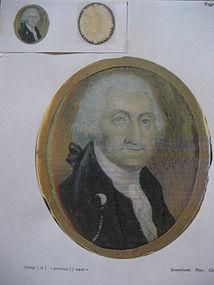 Late 18th Century Miniature of George Washington