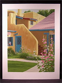 Lovely Original Serigraph by Lorna Patrick, Taos Shop