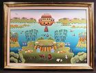 Original Oil Painting by Gisela Fabian, Noah's Ark, 1987