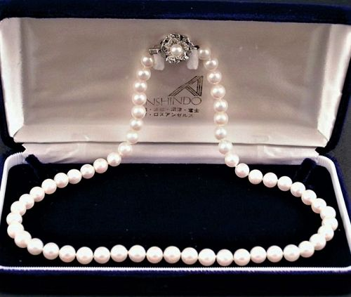 Very Fine Japanese Cultured Pearl Necklace