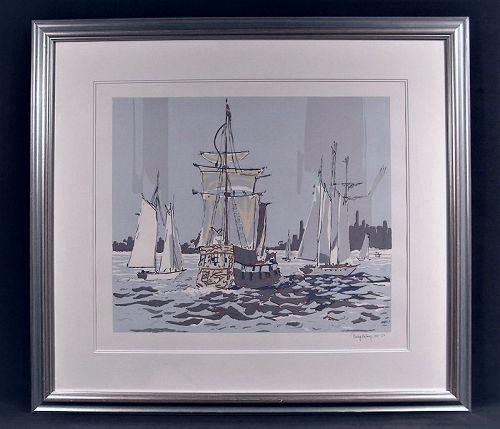 Lovely Original Serigraph, Op Sail by Philip Kelsey
