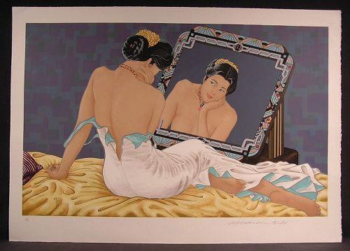 Original Serigraph by Muramasa Kudo, Reflection, L/Ed, Sgnd, No'd