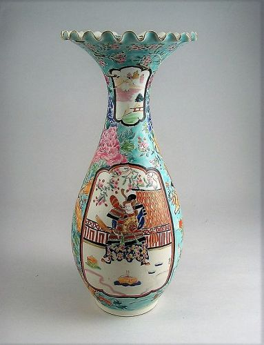 Very Fine Japanese Ko Imari Vase w/Samurai Deisn, early to mid 19 c.
