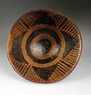 Nice Pre-columbian Narino pottery pedestal bowl #5