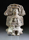 Rare and exceptional pre-columbian Zapotec pottery figure!