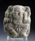 Important Ancient Indian Hindu Ganesha Stone carving, pre 1100!