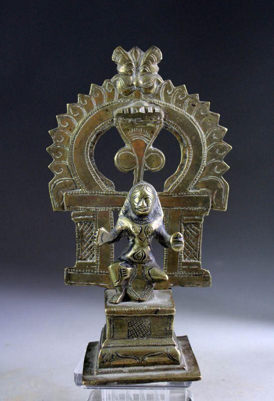Rare South Indian Hindu bronze figure or Shine, 18th. century
