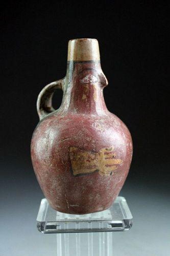 Fine Pre-columbian figural pottery terracotta jug, Costa Rica