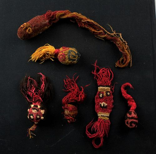 Coll. of 6 Pre-Columbian Chancay textile Rodents, 1000-1400 AD