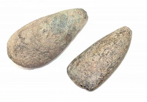 Pair of ancient Taino stone axes, pre-columbian periods!