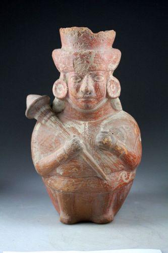 Massive Pre-Columbian Moche warrior or Chieftain, ca. 450 - 600 AD