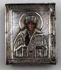 Beautiful very early Russian Ortodox Silver Riza Oklad, 19th. cent.