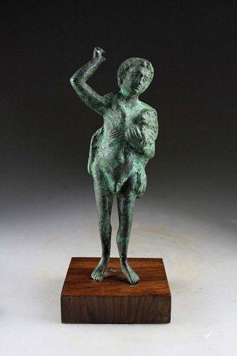 Interesting antique bronze figure of Hercules (?) Roman style