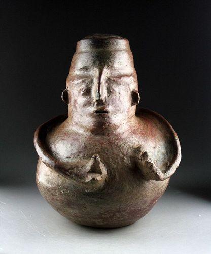 Rare massive Pre-columbian Calima/Quimbaya Anthropomorphic vessel!