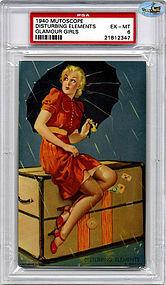 "1940 Mutoscope ""DISTURBING ELEMENTS"" - PSA Slabbed Rated EX - MT 6"