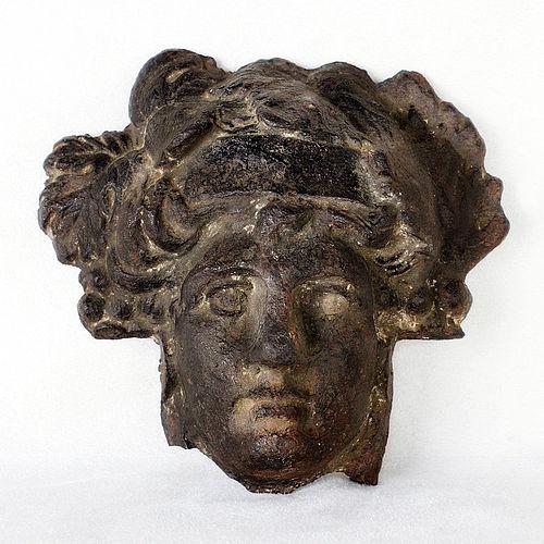 Original Antique Roman Bronze Head of Minerva - First Century AD