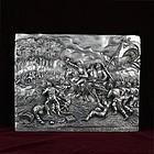 "Henryk Winograd War Plaque ""The Battle of Wilson's Creek"" .925 Silver"