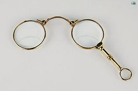 Vintage 18 Karat Gold Bifocal Spectacle Eyeglasses Late 1800