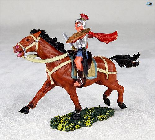 Pristine Vintage Elastolin Knight Soldier Mounted Horse Complete