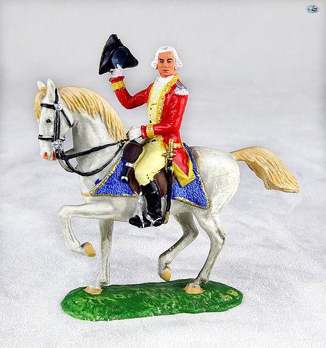 Pristine Vintage Elastolin George Washington Mounted Horse