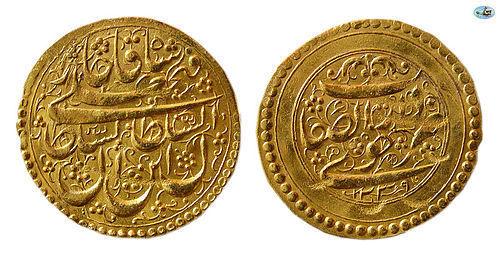 QAJAR DYNASTY, FATH ALI SHAH. (1797-1834). GOLD, DAR AL SAFAYE KHOY
