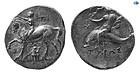 Calabria, Tarentum 350-300 BC, Silver Didrachm, Choice EF