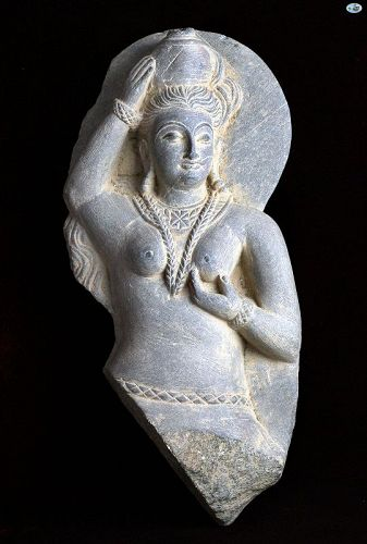 Hindu Goddess of Ancient India Kushan Period Figure 2nd-3rd C. AD