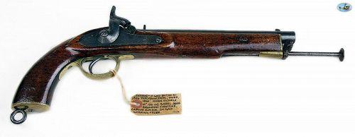Fantastic British Military Model 1856 Percussion Pistol, Tower 1861