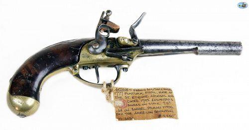 French Revolution Military Model 1777 Flintlock Pistol, St. Etienne