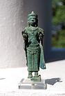 Fine Bronze Khmer Baphuon statuette, 12th Century
