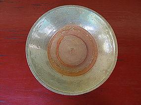 Sawankhalok CELADON Bowl with iridescent glaze, Siam