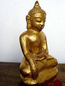 Bronze Shan State Gilded Buddha, 19th Cent., Burma