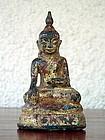 Shan State Bronze Buddha Subduing Mara, 18th Century