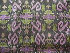 Rare double length 100% Silk Ikat with brocade thread