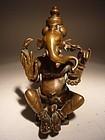 Bronze GANESHA-GANESH Sculpture, India, 18th Century