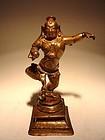 Bronze Dancing KRISHNA, Southern India, 16/17th Century