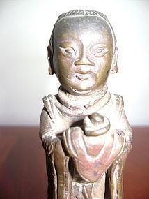 A BRONZE TAOIST FEMALE DEITY, Ming Dynasty