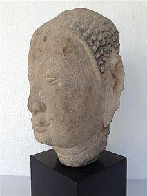 Genuine AYUTTHAYA Sandstone Head of Buddha