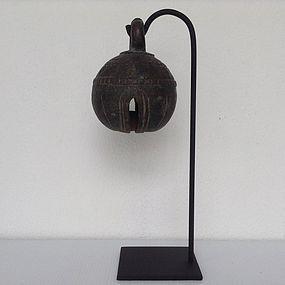 ANTIQUE BRONZE WATER BUFFALO BELL, 19th Century