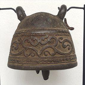 ANTIQUE  BRONZE ELEPHANT BELL, 19th CENTURY
