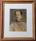 Pastel Original Painting King RAMA V by Yuth Suripong